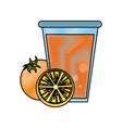 fruit juice icon image vector image