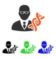 genetic engineer flat icon vector image