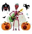 King of Rock Skeleton guitar player vector image