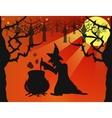 Night on Halloween vector image