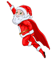 Santa Claus Flying in the Air vector image