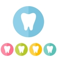Set of teeth icons isolated on white vector image