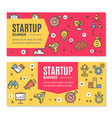 start up flyer banner placard set vector image