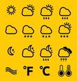 vremenske ikonice SIMPLE4 resize vector image