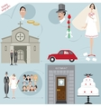 wedding set with graphic elements vector image