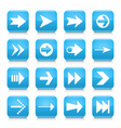 Blue arrow sign rounded square icon web button vector image