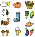 Doodle of vegetable thanksgiving set vector image