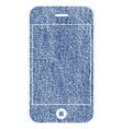 mobile phone fabric textured icon vector image