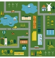 a map of the city vector image