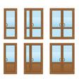 plastic doors 08 vector image