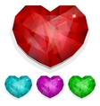 Set of gems heart vector image vector image