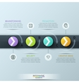 Modern business style infographic template vector image