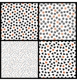 Black white and orange chaotic ethnic geometric vector image vector image