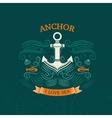 Anchor retro style vector image