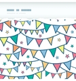 Colorful doodle bunting flags horizontal torn vector image