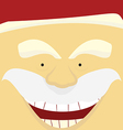 face santa Claus vector image