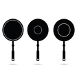 pan set black silhouette vector image