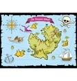 pirate treasure color map vector image