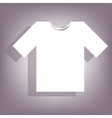 T-shirt icon with shadow vector image