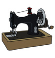 Old sewing machine vector image