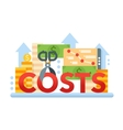 Reduce Costs - flat design website banner vector image