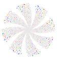 pill fireworks swirl flower vector image