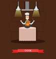 cook in flat style vector image