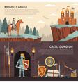 1608i105030Sm005c11heraldic knight banners vector image