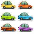 Colorful cartoon cars vector image