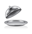 object cloche and tray vector image