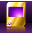 purple and gold futuristic sign vector image