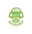 Mechanic Green Vintage Stamp vector image