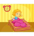 Girl waking vector image vector image