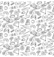 Extreme doodle seamless pattern vector image