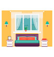 bright bedroom interior with furniture home vector image