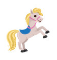 cartoon horse rearing up vector image