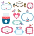 Frames and stickers for scrapbooking vector image