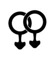 Male icon gay vector image
