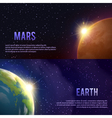 Solar System Banners Set vector image