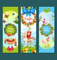 easter spring holiday festive banner set design vector image