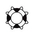 black icon on white background marine vector image