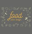 food icons design set vector image