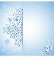 Christmas snowflake greeting card vector