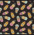 hipsters pattern vector image