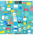 Seamless Social Media Pattern vector image