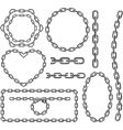 Chain frames vector image