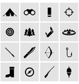 black hunting icon set vector image