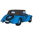Vintage blue convertibla vector image