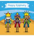 Happy Epiphany card vector image