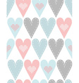 Pattern with pastel hearts vector image